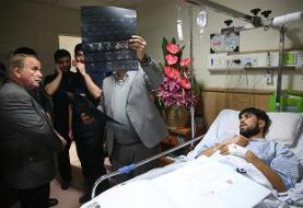 درخواست ملیپوش کشتی  از بیمارستان رفیده برای ادامه بستری