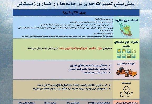 برف و باران در در راه کشور: تهران برفی میشود، بارشها ...