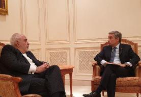 ظریف با وزیر خارجه کانادا دیدار کرد