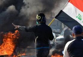 ۲ کشته در درگیری بین معترضان و پلیس بغداد