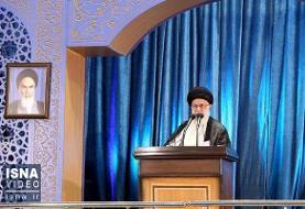 ویدئو/ اقامه نماز و سخنرانی رهبر انقلاب در نماز جمعه تهران