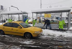 آمادهباش۱۴هزار نیروی خدمات شهری برای پاکسازی معابر پایتخت از برف