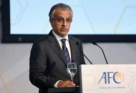قول رئیس کنفدراسیون فوتبال آسیا به وزیر ورزش برای بررسی مجدد تصمیم کمیته مسابقات