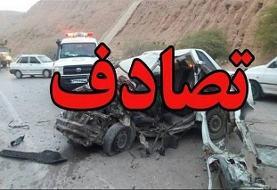 یک کشته و یک مصدوم در تصادف اتوبان تهران-پردیس