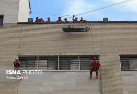 آتش نشانان عملیات ایمنی و نجات را در مراکز حساس تمرین کردند