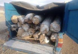 ۴ خودرو نیسان حاوی چوب قاچاق در شاهرود متوقف شد