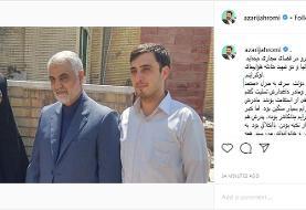وزیر ارتباطات به منزل شهید نخبه رفت