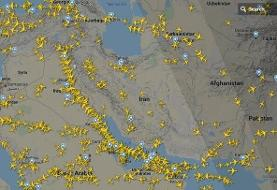 فیلم | هواپیماهای خارجی آسمان ایران را دور میزنند