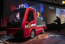 (تصاویر) رونمایی پاناسونیک از کوچکترین ماشین آتشنشانی