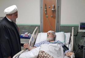 (عکس) رئیس جمهور از حجتالاسلام شهیدی عیادت کرد