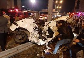 دو کشته و سه مصدوم در تصادف بزرگراه نیایش/جزئیات حادثه