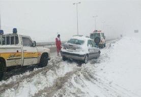 قطع راه دسترسی ۲۷۰ روستا و ریزش بهمن در الیگودرز
