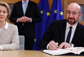 پیروزی انزوا طلبان انگلیس: طلاق سیاسی انگلیس از اروپا نهایی شد! اتحادیه اروپا هم برگزیت را امضا کرد