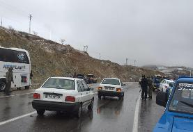 تصادف زنجیرهای ۸۰ خودرو در  شیراز
