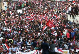 آغاز تظاهرات بغداد در حمایت از خروج آمریکا از عراق