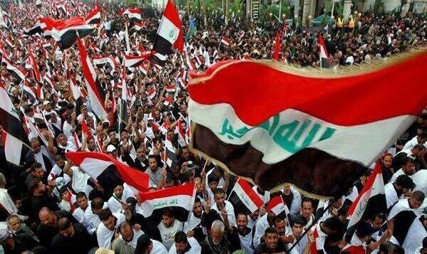 تظاهرات میلیونی بغداد در حمایت از خروج آمریکا از عراق