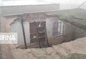 یک کشته در ریزش خانه مسکونی در ریگان کرمان (+عکس)