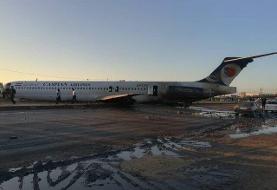 خروج هواپیمای مسافری تهران – ماهشهر از باند