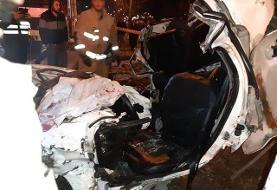 ۴ کشته در تصادف کامیون و پراید