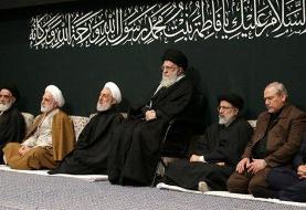 (عکس) اولین شب مراسم عزاداری حضرت فاطمهزهرا با حضور رهبر انقلاب