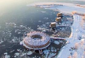 سوئدیها هتل شناور یخی ساختند (+عکس)