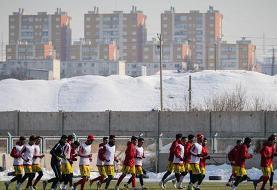 برگزاری تمرینات تیم فوتبال تراکتور برای بازی با ذوبآهن