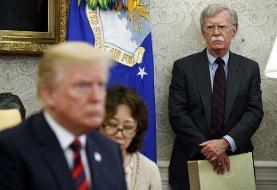 ترامپ: اگر به بولتون گوش میکردم، الان در جنگ جهانی ششم بودیم