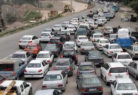 جاده هراز ترافیک سنگین دارد