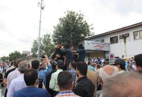 دورگردانی عاملان شرارت و درگیری بیمارستان پورسینا رشت (+عکس)