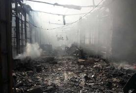 دستور قضایی بررسی آتشسوزی بازارچه ساحلی بندر دیلم /بازداشت یک نفر