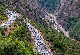 ورود کامیون به جاده هراز ممنوع شد؛ کندوان و جاده فیروزکوه شلوغ است