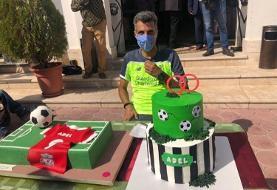 تولد ۴۶ سالگی فردوسی پور با کیک ۹۰ / از کادوی ویژه علی کریمی تا تبریک ...