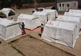 تقسیم ۲۳ هزار دستگاه چادر امدادی در کشور