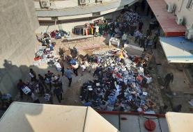 آتش سوزی در بازارچه ساحلی دیلم /۲۰۰ واحد صنفی طعمه حریق شد