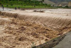 سیلاب در هرسین کرمانشاه با ۲۰ دقیقه بارش!