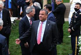 Former New Jersey Gov. Chris Christie, who was hospitalized for COVID-19, said he was ...