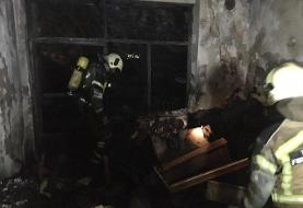 آتش سوزی در ساختمان ویلایی و کشف بدن بی جان زن ٨٠ ساله در محل