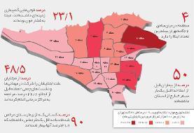 کرونا چگونه تهران را فتح کرد؟ | مبتلایان ۲ هفته پیش از بیماری کجاها رفته بودند؟ | بیشترین ...