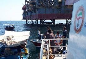 بوشهر: پیدا شدن جسد غواص غرق شده در نزدیکی سکوی نفتی فروزان