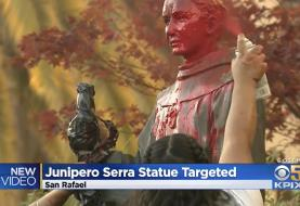 Archbishop of San Francisco performs exorcism ceremony at site of vandalized Saint Junipero ...