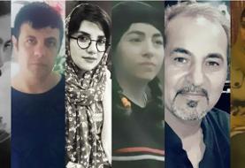 بیخبری از وضع شش تن از فعالان مدنی بازداشت شده در ایران