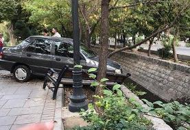 ببینید | تصادف عجیب در بلوار کشاورز تهران
