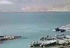 ویدئو   لحظه شهادت سروان اصغر سالارپور از پرسنل دریابانی قشم