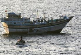 ویدئوی یورونیوز از کمک نیروهای ارتش امریکا به کشتی ایرانی | صدای فارسی از ناوشکن آمریکایی