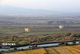 تصاویر   تماشای جنگ قرهباغ در مرز خداآفرین