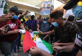 (تصاویر) آتش زدن دفتر حزب دموکرات کردستان در بغداد