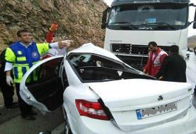 مرگ راننده ۲۲ ساله در برخورد با تریلی در هفتکل