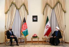 گفتگوی روحانی و عبدالله: راه حل مشکلات مذاکرات بین الافغانی است