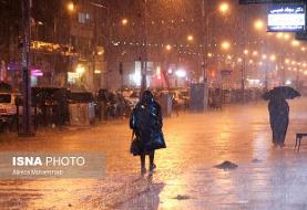 بارش شدید باران در گیلان و مازندران