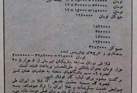 تقسیم درآمد ایران از جام جهانی ۱۹۷۸، به همین شفافی/عکس